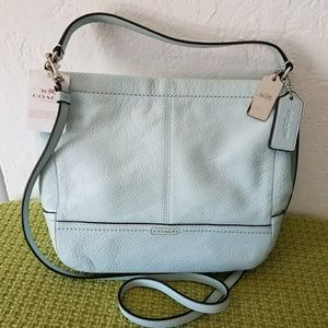 new coach light green Authentic convertible bag